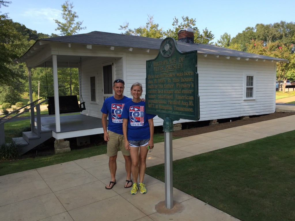At Elvis's birthplace in Tupelo, MS
