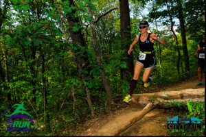Mary Catherine enjoying the trail on Stringer's Ridge. Photo by: We Run Chattanooga