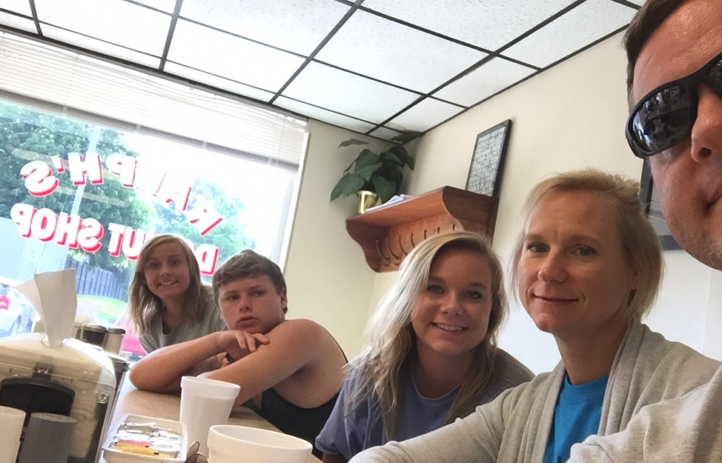 Father's Day 2015 at the world famous Ralph's Donut Shop in Cookeville, TN