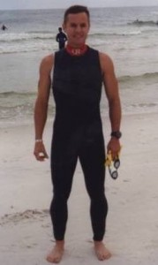 Ready to swim 2.4 miles at 2002 Ironman Florida