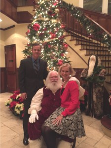 Joe and Mary Catherine with Santa at the PTCRC Christmas Party. Photo by: Susan Bothe.