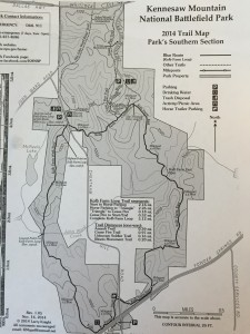 Kennesaw Mountain National Battlefield Park - South Trail Map (2014)