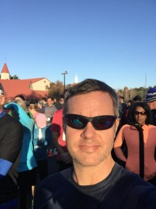 Joe at the start of the 2015 PTC3 Turkey Trot