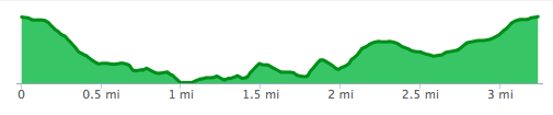 PTC3 Turkey Trot Elevation Profile