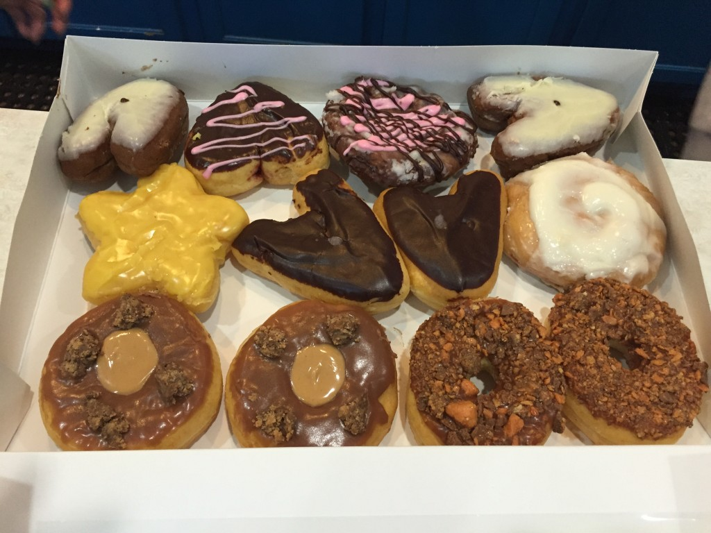A dozen donuts from Sublime Doughnuts in Atlanta, GA.