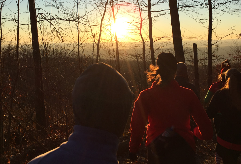 2015 Chattanooga 10K Trail Race sunrise