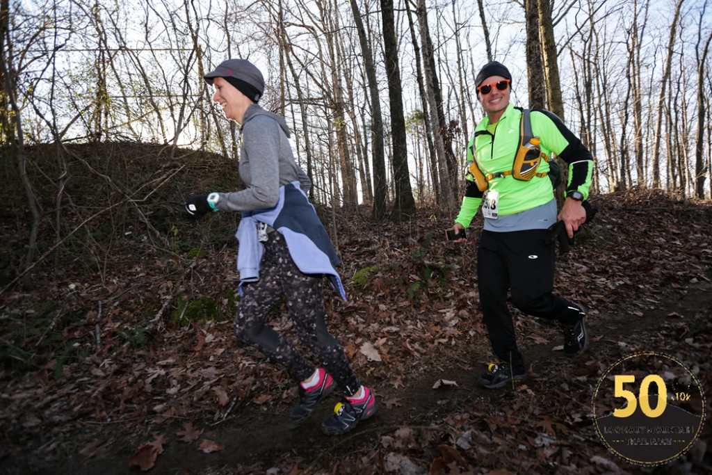 Mary Catherine and Joe enjoy the 2015 Lookout Mountain 10K Trail Run (photo by: We Run Chattanooga)
