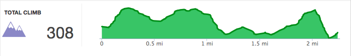 2015 Helen Black Friday 5K elevation chart