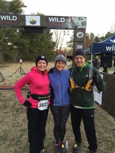 Coleen Pruitt with Mary Catherine and Joe at the race start