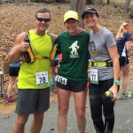 Joe, Lisa, and Mary Catherine at the aid station.