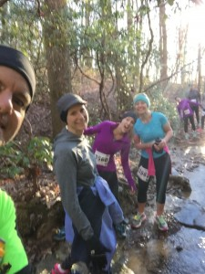 Joe, MC, Kassaundra and friends enjoying the trail