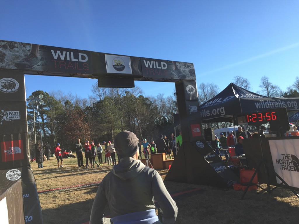 Mary Catherine approaches the finish line of the 2015 Lookout Mountain 10K Trail Race