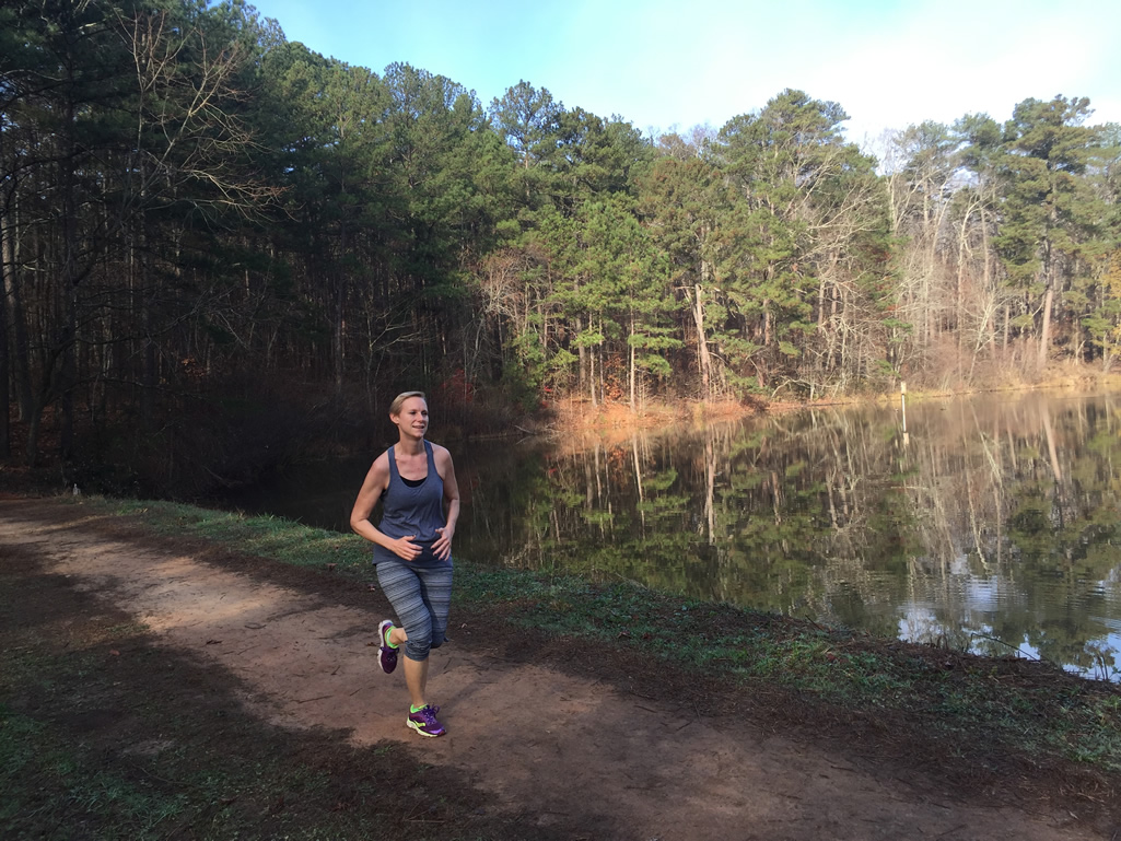 Trail running at the Reynolds Nature Preserve