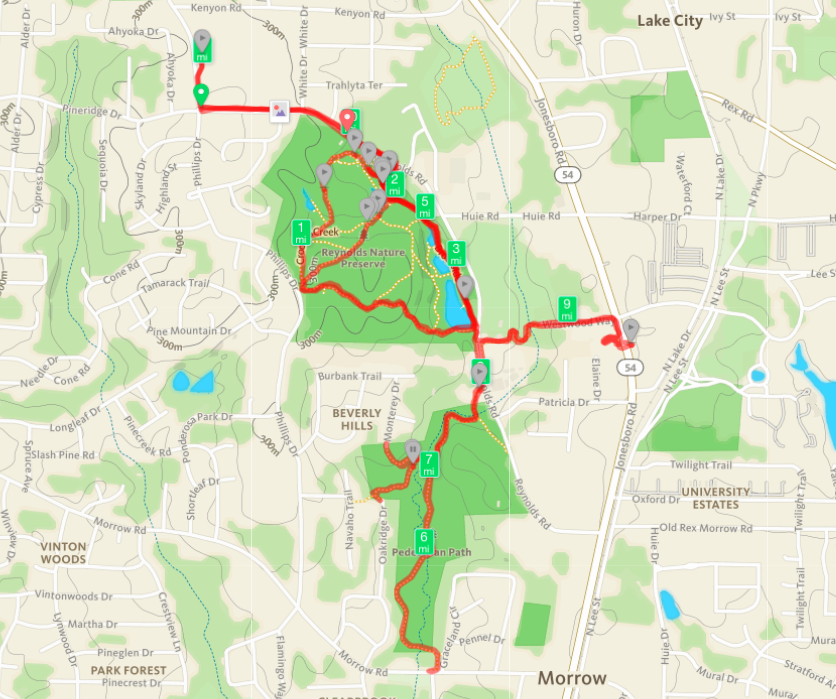 Reynolds Nature Preserve and Morrow City Pathway Map