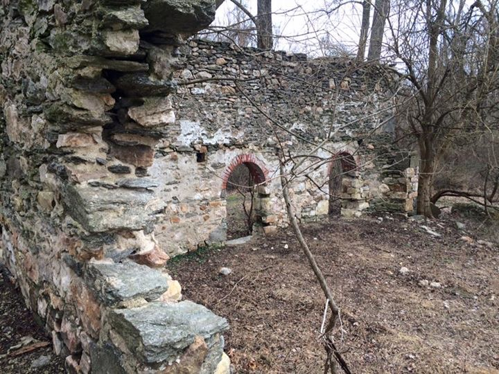 The ruins of Scott's Mill at Fair Hill NRC (photo by: Sean Toohey)