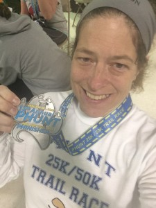 PHUNT 25K Finisher - selfie by Karen Meddows Carey