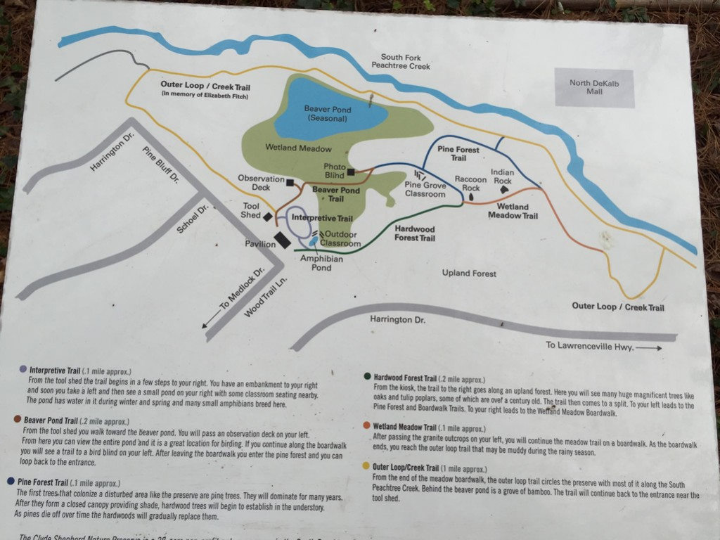 Clyde Shepherd Nature Preserve map (2016)