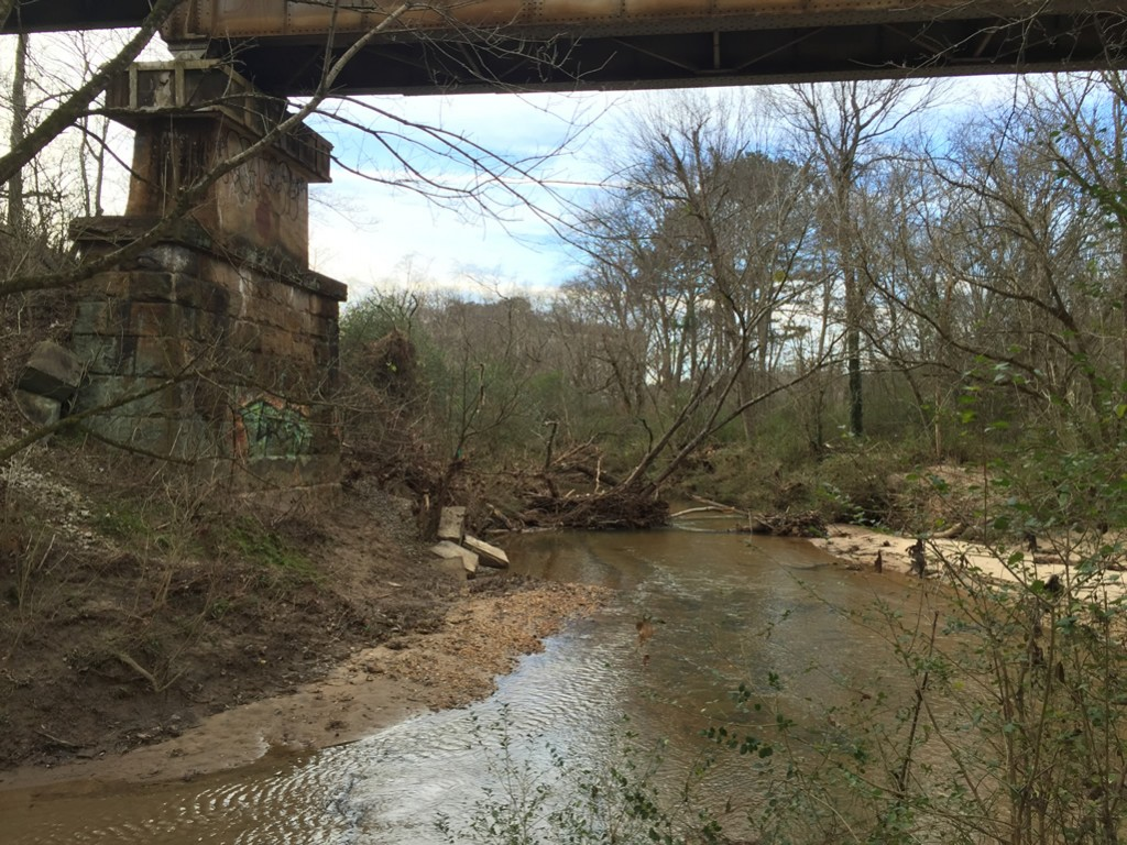 Confluence of Burnt Fork Creek and South Peachtree Creek near the old Decatur water works