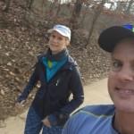 Mary Catherine and Joe climb up South Peachtree Creek Trail
