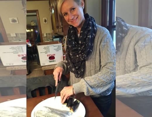 Mary Catherine making Nori Rolls