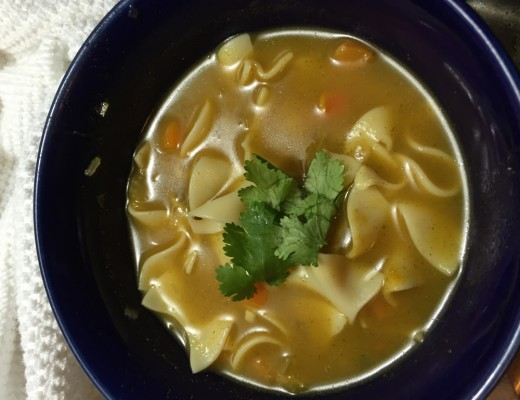 Vegetable No-noodle / Noodle soup recipe