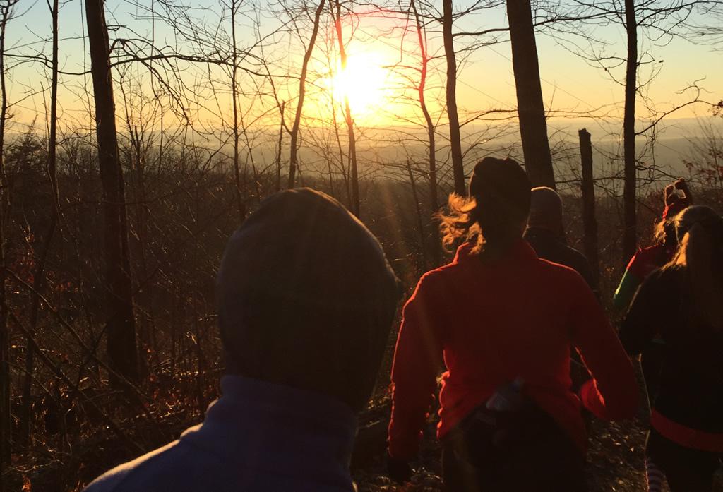 2015 Chattanooga 10K Trail Race sunrise