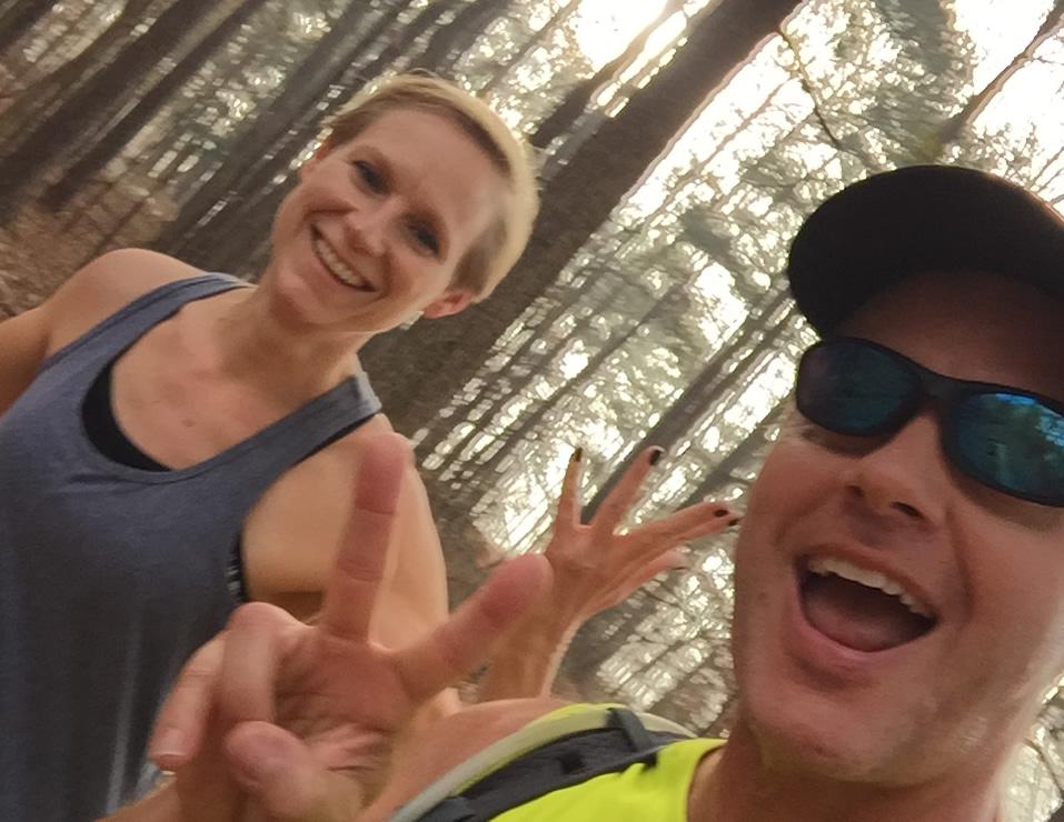 Mary Catherine and Joe running
